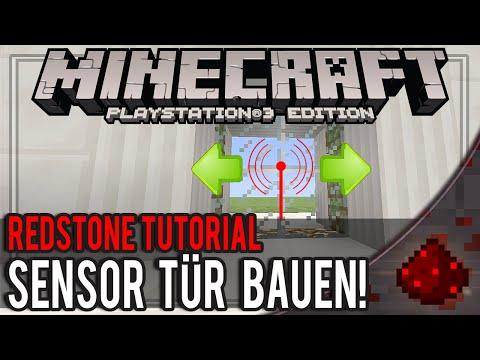 Minecraft Konsole Tur Mit Bewegungsmelder Bauen Sensor Tur Tutorial