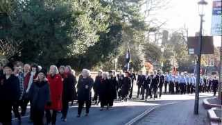 preview picture of video 'Remembrance Sunday 2012- Knowle High Street'