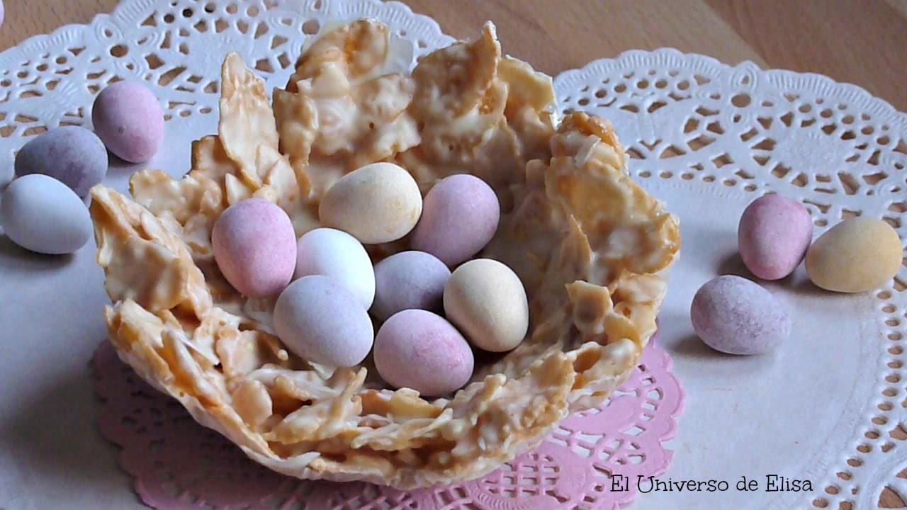 Nidos de Chocolate y Cereales, Recetas para Pascua, Manualidades para Pascua