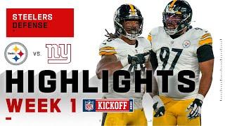 Steelers Defense SHUTS DOWN Giants w/ 2 INTs & 3 Sacks | NFL 2020 Highlights