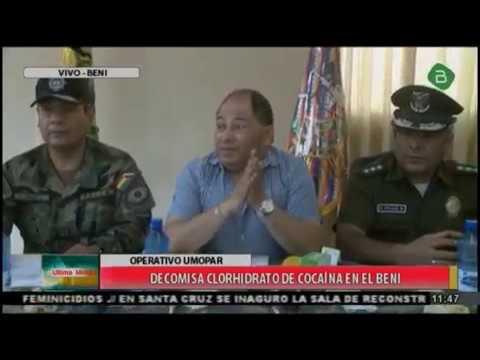 La #FELCN secuestro mas de 191 kilos de cocaina en el departamento del #Beni