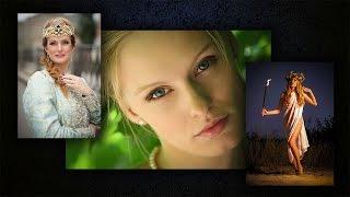 Красивые русские девушки видео. Русский стиль. Славянская мода. Beautiful russian girls & women.