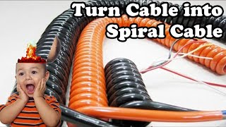 💻 Turn any Cable into a Spiral Cable (Dr. NOOB's Lab)