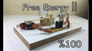 Redüktörlü DC Motor İle Sınırsız Elektrik Üretimi FREE ENERGY
