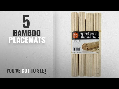 Best Bamboo Placemats [2018]: Bamboo Placemats Set of 4 – Natural beige color, Everyday Use,