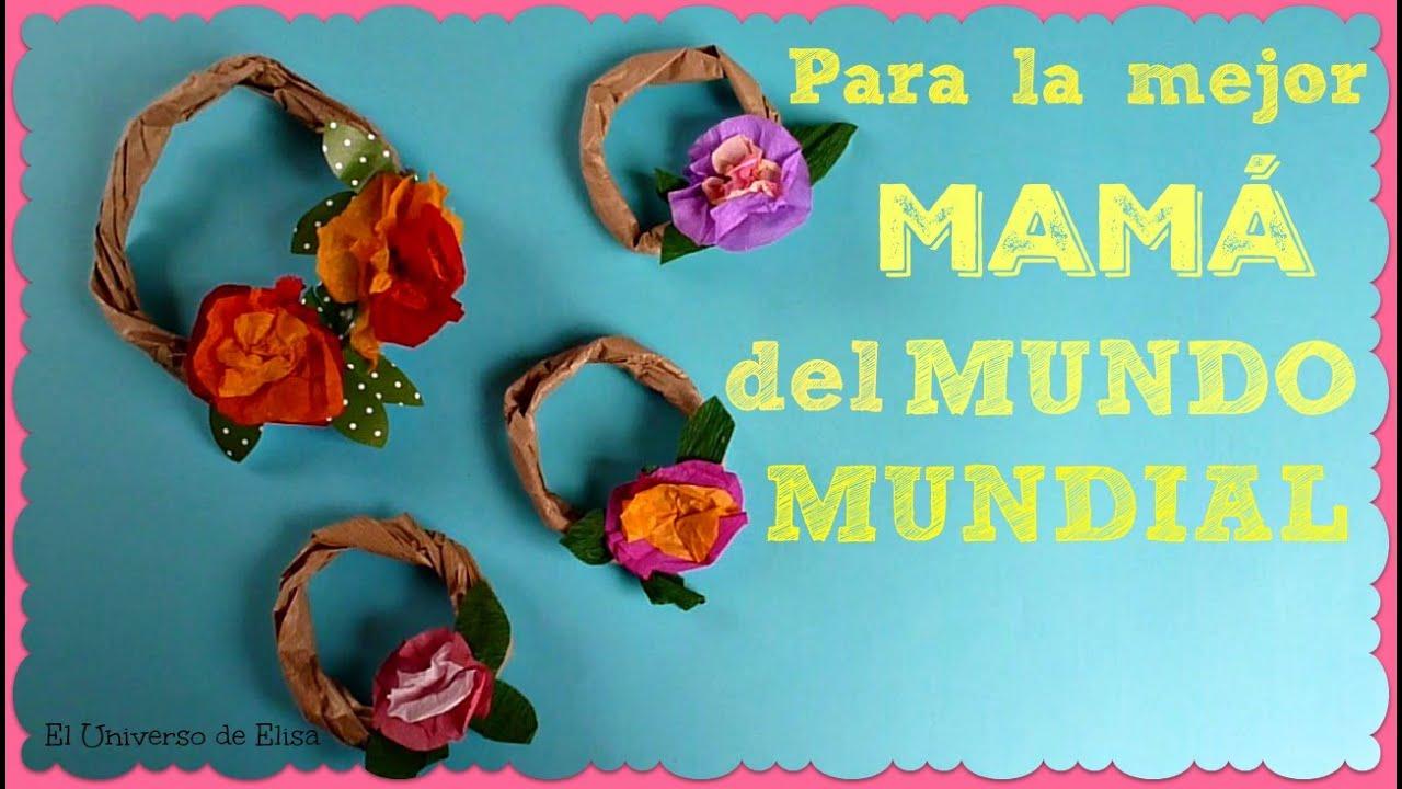 Manualidades para el Día de la Madre, Regalos para el Día de la Madre, Pequeñas Coronitas con Flores
