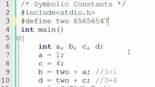 40. Symbolic Constants in C Programming (Hindi)
