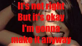 Whitney Houston It's Not Right But It's Okay with Lyrics by Jr