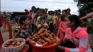 Chuối Chiên cho mấy em bé Đồng Bào - Hương vị đồng quê - Bến Tre - Miền Tây