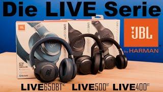 Die JBL Kopfhörer Live Serie | On Ear | Over Ear und mit Noise Cancelling