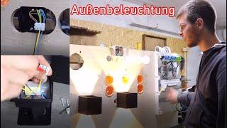 Außenbeleuchtung / Fassadenbeleuchtung anschließen