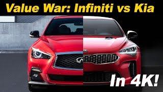 2018 Kia Stinger GT vs 2018 Infiniti Q50 3.0t Sport   Head to Head comparison