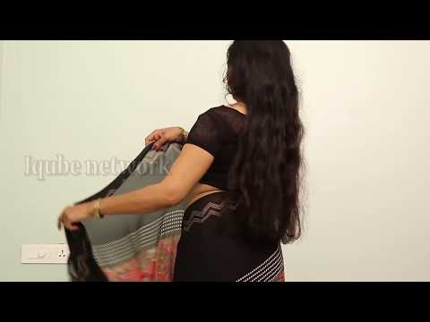 gorgeous curvy Aunty saree draping video   super viral videos