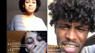 Jadaamor & Stephanie Expose Charc On Live & Charc Responds Quick Asf On His Live😂!!
