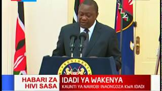 CENSUS REPORT 2019: Uhuru addresses the public over the release of the 2019 Census results