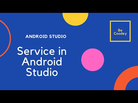 How to create a background service in Android.