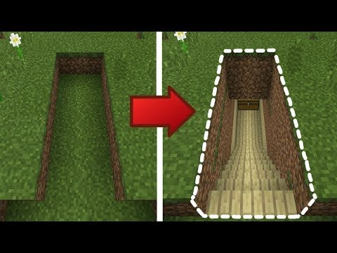 Minecraft: How to Build a Small & Easy Secret Base Tutorial #5 (Hidden House)