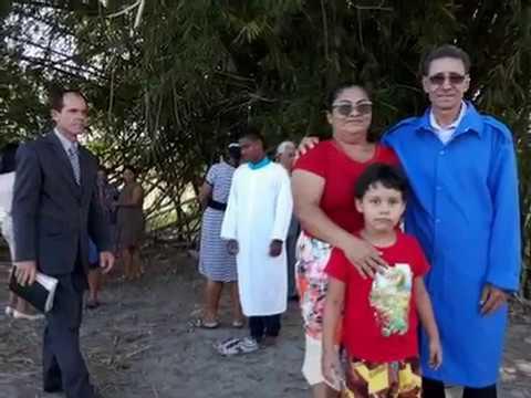 Batismo em Água Boa realizado pelo EV Zenilton em 20/05/2018