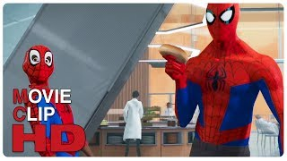 Peter Parker & Miles Morales Training Scene | SPIDER-MAN: INTO THE SPIDER-VERSE (2018) Movie CLIP HD
