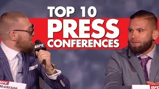 Top 10 Press Conferences In MMA