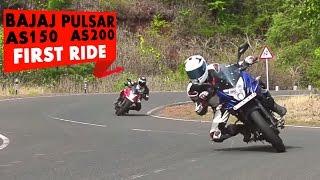 Bajaj Pulsar AS 150 AS 200 | First Ride | PowerDrift