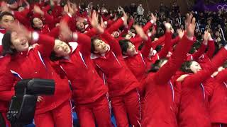 North Korean cheerleaders Winter Olympics 2018
