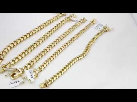 Cuban link bracelets all sizes