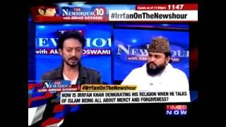 """Irfan Khan Real Indian muslim"" Shut Mouth Of Mualvi"