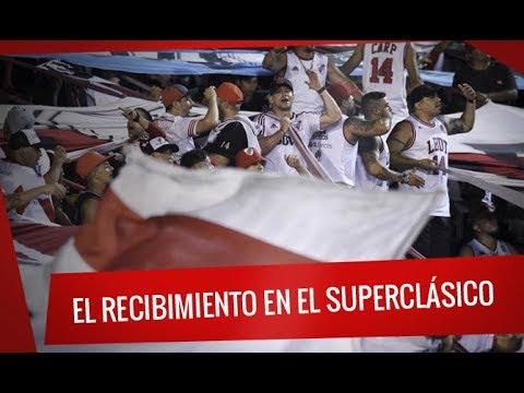 """""""El recibimiento en el Superclásico en Mardel"""" Barra: Los Borrachos del Tablón • Club: River Plate"""
