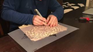 How To Create Damask Stencil Part 2 Cutting