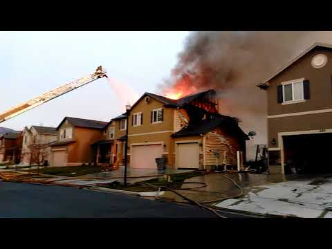 Double House Fire in North Salt Lake, Utah