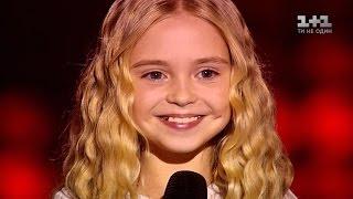 """Эмили Мошкина """"You raise me up"""" – выбор вслепую – Голос. Дети 3 сезон"""