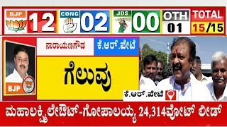 BJP Candidate Narayana Gowda Reacts After Winning From KR Pet | Karnataka By-Election Result