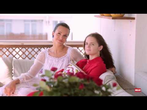 Слава и ее дочь Саша - Backstage для журнала HELLO!