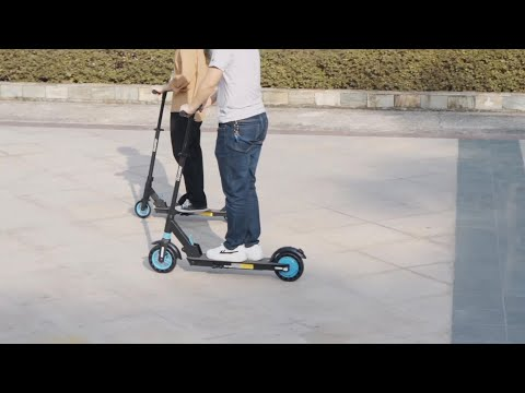 iK5 Folding Electric Scooter for Kid with Bag, Range 7.5-9.3Miles 3 Gear Speed Adjustable Height