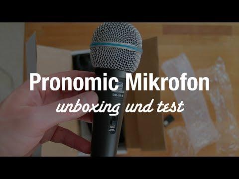 Pronomic DM-58-B Dynamisches Gesangs Mikrofon (Unboxing und Test)