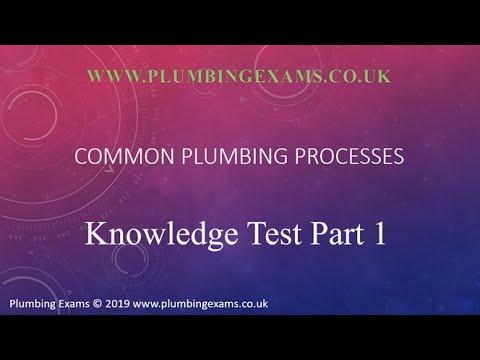 Common Plumbing Processes Exam - YouTube