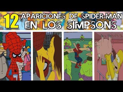 Las 12 APARICIONES de SPIDER-MAN (El HOMBRE ARAÑA) en LOS SIMPSONS