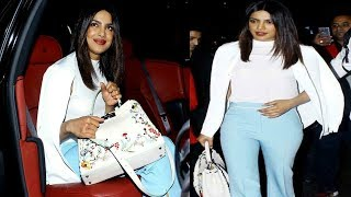 Priyanka Chopra arrives in mumbai in utmost style and panache