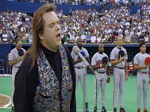 A staple of the 90's both as dinner and on the radio, sings possibly the best rendition of the National Anthem ever. Meatloaf.