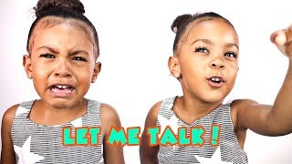 MY TWIN SISTER WON'T LET ME TALK!