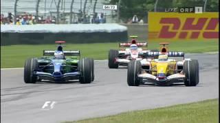 Fisichella vs Button F1 2007 USA