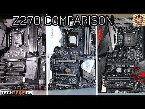 Z270 Comparison: Asus Hero vs MSI M7 vs Gigabyte Gaming 7