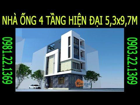 VIDEO NHÀ ỐNG HIỆN ĐẠI 5,3X9,7M