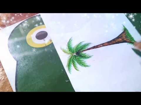 Cara Menggambar Pohon Kelapa смотреть онлайн на Hahlife