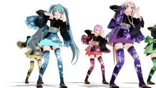 【MMD】一騎当千 (初音ミク、巡音ルカ、GUMI、鏡音リン、IA)
