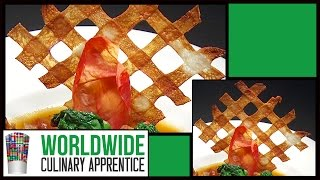 Potato Fence - Food Decoration - Plating Garnishes - Food Presentation - How To - Technique