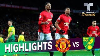 Manchester United vs. Norwich City: 4-0 Goals & Highlights | Premier League | Telemundo Deportes