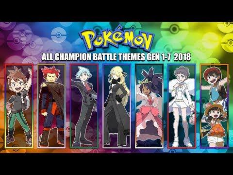 All Pokémon Champion Battle Themes [GEN 1-7] 2018