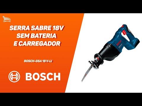Serra Sabre 18V sem Bateria e Carregador GSA 18 V-LI - Video